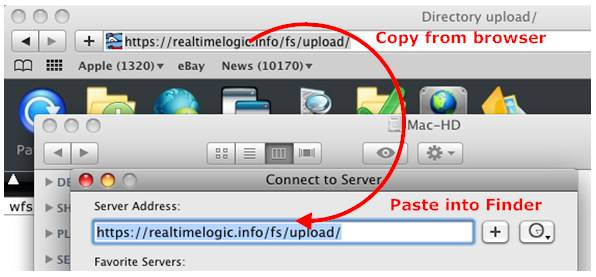 Mount a WebDAV drive using the Mac Finder